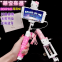 Diamond Cartoon Mini Foldable Extendable Monopod Selfie Stick with Wired Cable Mobile Phone AccessoriesPromotion Gifts