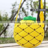 promotional kids Pineapple plush pocket Bag