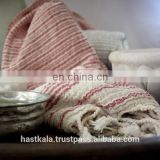 Azo Free & Color Fast 100% Cotton Woven Fouta Peshtemal Hammam Towel for Promotion & Retail Sale