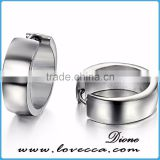 Hot sale Boys 316L stainless steel earrings stud with silver color