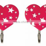 heart shaped pvc hook wall hook plastic hook