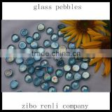 Round Polished Glass Light Blue Pool Garden Decoration Wholesale Glass Marbles