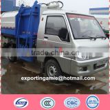 small FOTON 3cbm side self loading garbage truck