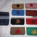 suede LEATHER TOBACCO POUCH PURSE indian