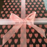 Fashion satin pink ribbon bow for decoration