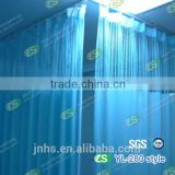 Blue Waterproof Yarn Dyed Antibacterial Hospital Ward Bed Screen Curtain with Hooks                                                                         Quality Choice