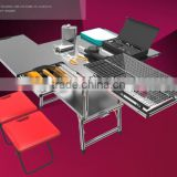 Mobile kitchen equipment/bbq grill set