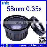 58mm 0.35x Wide Angle Fisheye Lens for Canon/ Nikon /Olympus /DSLR with Macro Portion