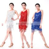 BestDance women ballroom latin dance wear sexy sequin dress club wear tassel dress wear OEM