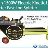7Ton 1500W Electric Kinetic Fast Log Splitter-3s Cycle Time YouTube Video Available