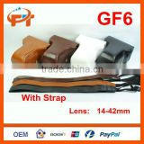 Pu leather camera bag camera case for GF6 14-42mm