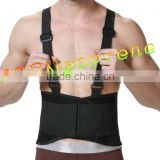 High quality Back Brace Lumbar Support Belt Adjustable Straps Pain Relief Neoprene Strap