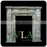 Ourtdoor Natural Marble Door Carving VD-030K