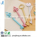 cute novel cartoon KEY shape promotional gel pen for school kids
