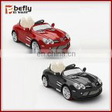 LICENSES R/C plastic black and red color battery baby toy car