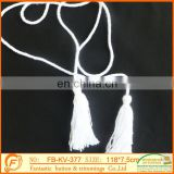 2017 fashion good quality off white cotton fringe for garments clothes