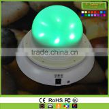 Wireless rgb Battery Powered RGB led Lighting Source,Round LED Vase Base Light,Luminous Furniture Light Base