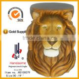 Resin Lion Head Statues Desk