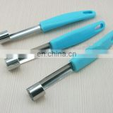 Creative design plastic handle stainless steel apple core puller for apple cutting