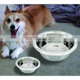 Stainless steel coloured anti skid dog bowl
