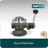 Inlet shutoff ball valve for fire vehicle fire hydrant ball valve fire fighting equipment