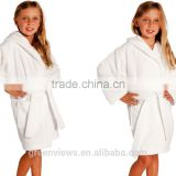 kids bathrobe hooded Velvet, Baby robes, bamboo fiber robes for children kids spa robes GVKBR1002