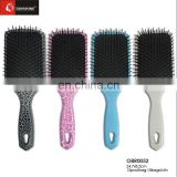 Plastic Cushion Hair Brush With Nylon And Bristle Pin