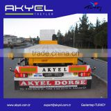 3 axle 50ton flat pack truck semi trailers for africa 3 axle 40ft flatbed container transport semi trailer