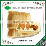 Colored plastic heated baking bread basket