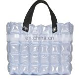 PVC inflatable bubble shopping bag with handles