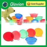 Collapsible silicone bowl glovion folding silicone dog bowl silicone washin up bowl
