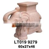 White Wash Vietnam Garden Ornament Color Clay Elephant