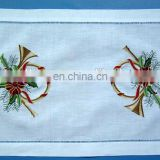 100% placemat with Christmas placemat and hand ladder hemstitch