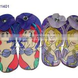 Summer fashion fancy slippers with flowers for girls