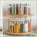 Bamboo spice racks /kitchen spice storage Homex-BSCI