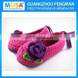 Baby Girl Rose Pink Shoes Newborn to Toddler Girl Crochet Booties