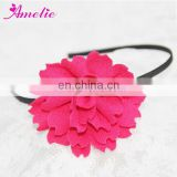 Hot Pink Knitted Cloth Flower Hairband Hair Ornaments