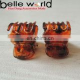 Mini Small Hair Claw light color tortoise shell Hair Accessories Factory Kids Plastic Hair Clip Claw Clamp