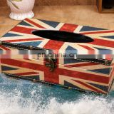 hot sale leather fancy tissue box PU cheap napkin box