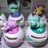 3D vinyl custom piggy coin bank, custom personalized plastic money box, OEM plastic vinyl coin bank