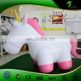 1.5m Small Bouncing Pink Inflatable Unicorn Cute Toys Pink Animal Horse