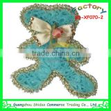 Popular decorative handmade chiffon flower accessories lace flower for headwear bags dress shoes flower