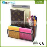 EasyPag office supply caddy mesh letter stacking sorter note tray metal pen holder desk organizer