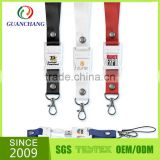 new premium wholesale china products custom id card holder printed lanyard with usb flash drive