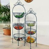 2 sets floor stand metal fruits holder