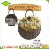 Indoor or outdoor wicker hanging gift empty mini baskets for plants