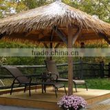 hotsale fluffy yellow synthetic thatch roof made in china
