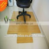 Carbonized bamboo chair rug