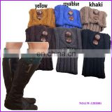 Hot fashion in stock leg warmer knitted boot cuffs wholesale