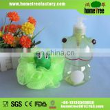 Plastic cartoon bubble bath bottle with bath ball